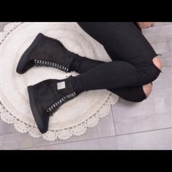Kozaki za kolano Madam Sequins Black