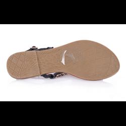 Płaskie sandały japonki czarne